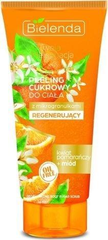 BIELENDA Twoja Pielęgnacja Peeling cukrowy do ciała REGENERUJĄCY Kwiat pomarańczy i Miód 200 ml