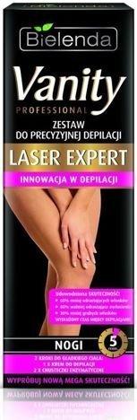 BIELENDA VANITY Laser Expert Zestaw do precyzyjnej depilacji NOGI 100 ml