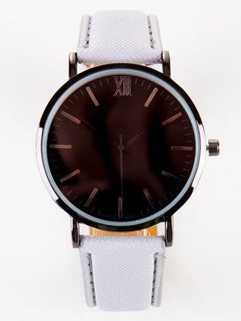 BLACK CLASSY szary zegarek damski z czarną tarczą