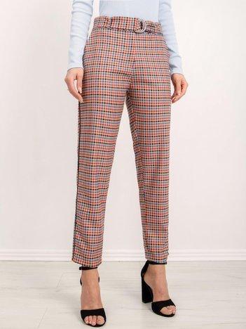 BSL Beżowe spodnie w kratę