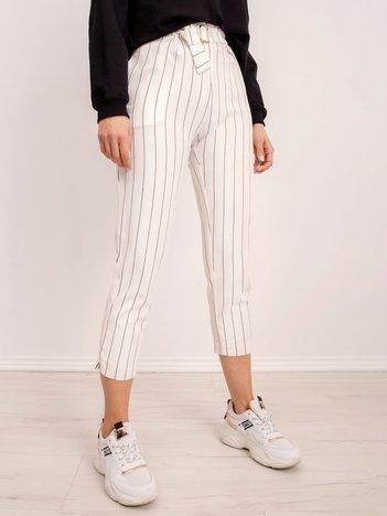 BSL Białe spodnie w paski