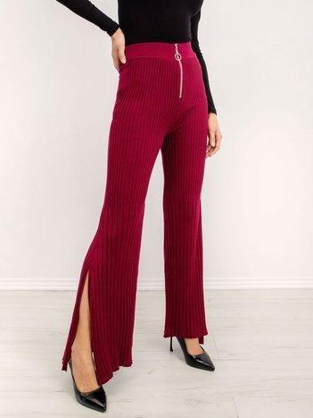 BSL Bordowe spodnie damskie