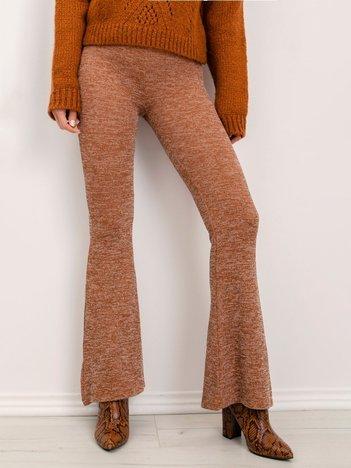 BSL Brązowe melanżowe spodnie