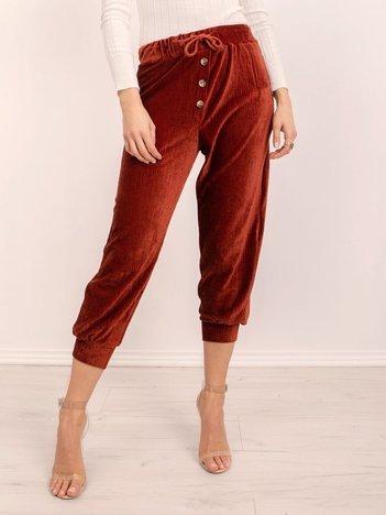 BSL Brązowe spodnie sztruksowe