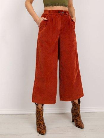 BSL Brązowe szerokie spodnie