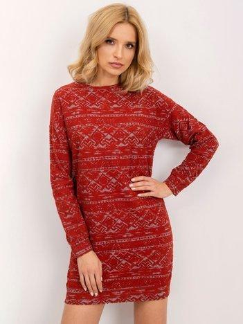 BSL Ciemnoczerwona sukienka