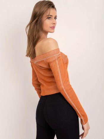 BSL Ciemnopomarańczowy sweter damski