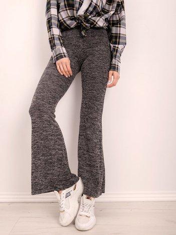 BSL Czarne melanżowe spodnie