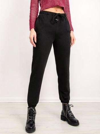 BSL Czarne spodnie dresowe
