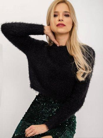 BSL Czarny krótki sweter