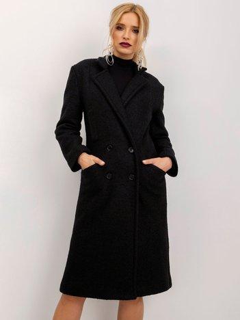 BSL Czarny płaszcz damski