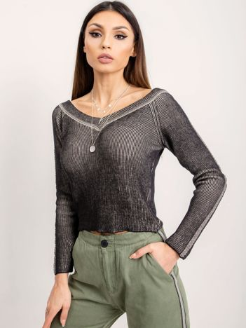 BSL Czarny sweter damski