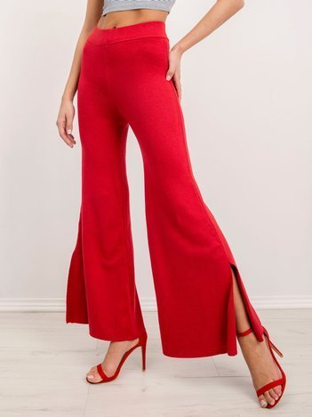BSL Czerwone spodnie damskie