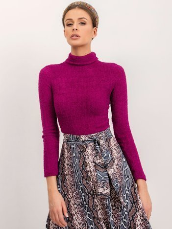 BSL Fioletowy sweter damski