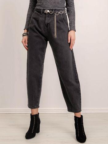 BSL Grafitowe spodnie jeansowe
