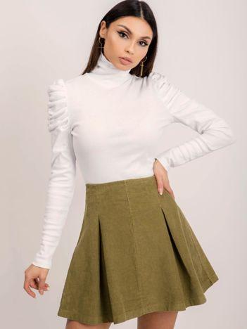 BSL Jasna khaki spódnica sztruksowa