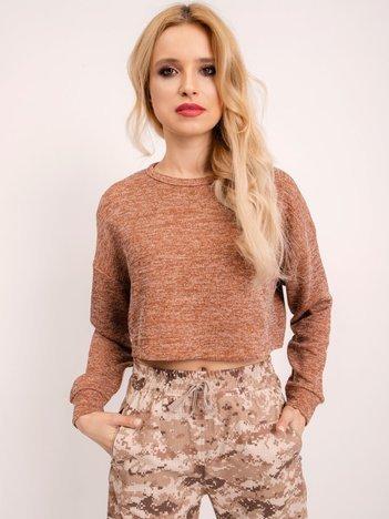 BSL Jasnobrązowy krótki sweter