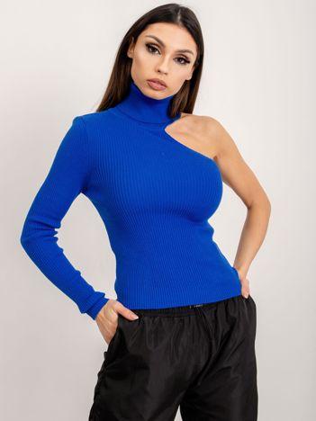 BSL Kobaltowy sweter damski