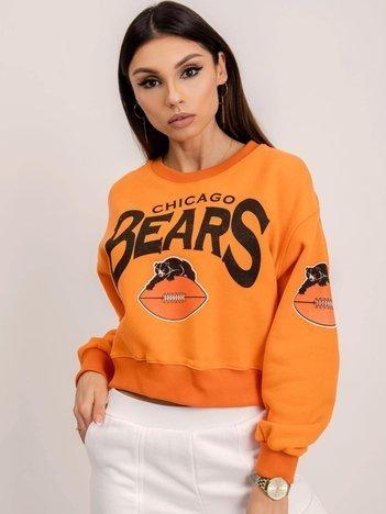 BSL Pomarańczowa bluza z nadrukiem
