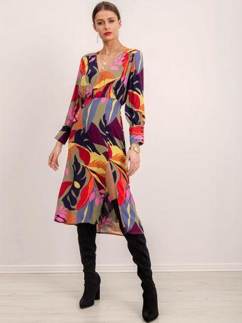 BSL Sukienka damska w kolorowe wzory