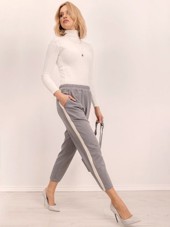 BSL Szare spodnie z lampasami