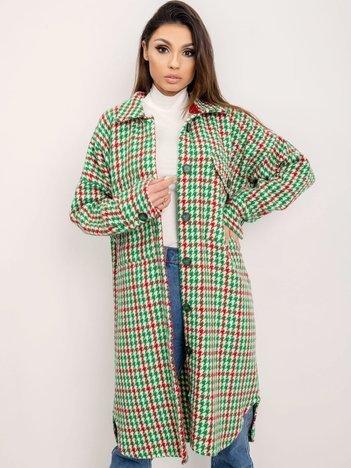 BSL Zielony płaszcz w pepitkę