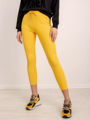BSL Żółte spodnie w prążek