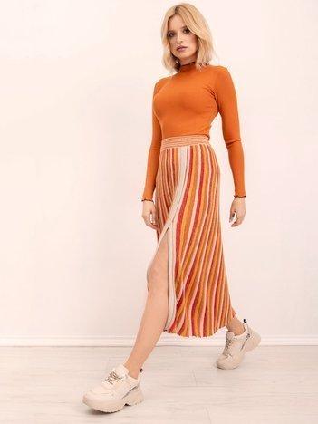 BSL Żółto-pomarańczowa spódnica w paski