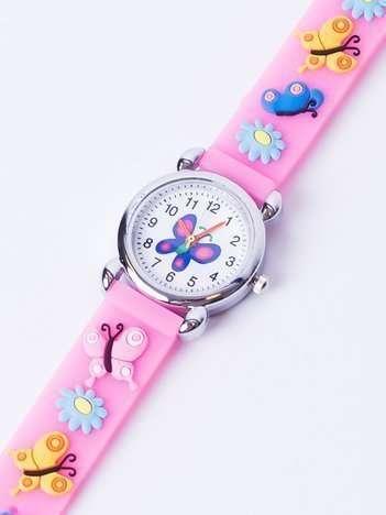BUTTERFLY Jasnoróżowy Dziecięcy Zegarek Motyle