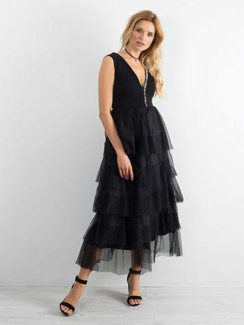 c7530c4570 BY O LA LA Czarna elegancka sukienka