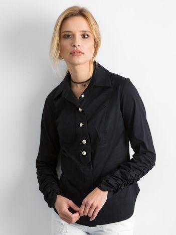 BY O LA LA Czarna koszula damska