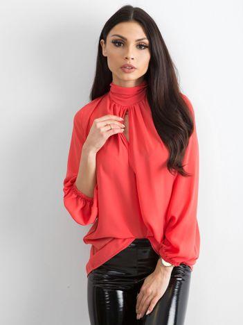 BY O LA LA Koralowa elegancka bluzka