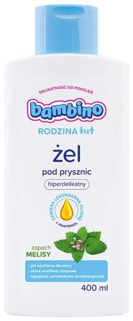 Bambino Rodzina Żel pod prysznic hiperdelikatny - zapach Melisy 400 ml