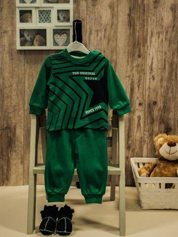 Bawełniana dwuczęściowa piżamka chłopięca zielona
