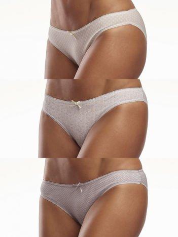Bawełniane damskie majtki w delikatne wzorki