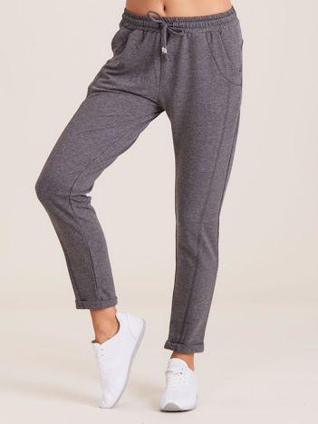 Bawełniane dresowe spodnie ciemnoszare