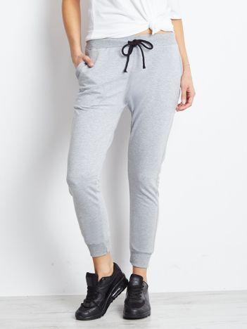 Bawełniane spodnie dresowe szare