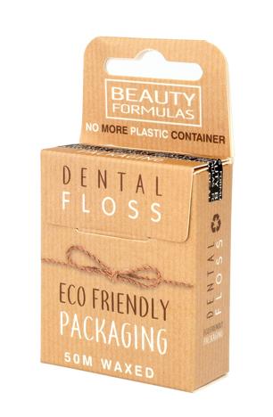"""Beauty Formulas Eco Friendly Nić dentystyczna woskowana 1op.-50m"""""""
