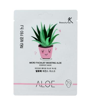 Beauty Kei Aloe Koreańska maseczka na płacie kojąco-nawilżająca