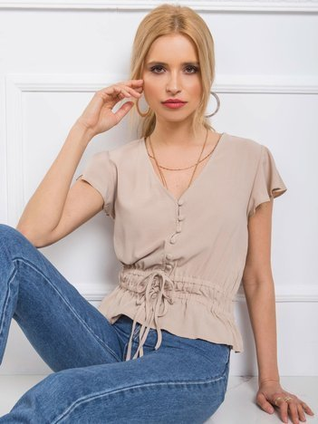 Beżowa bluzka Shirley RUE PARIS
