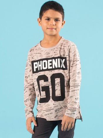 Beżowa bluzka dla chłopca z bawełny