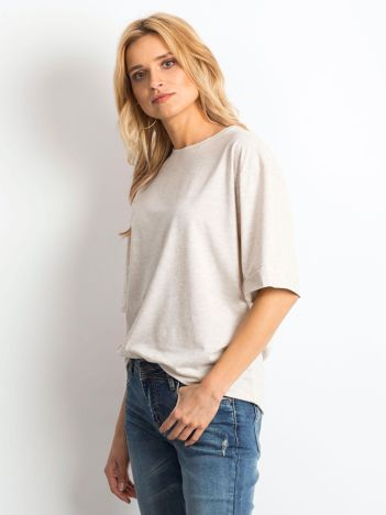 Beżowa melanżowa bluzka Celebration