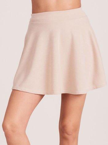 Beżowa rozkloszowana spódnica