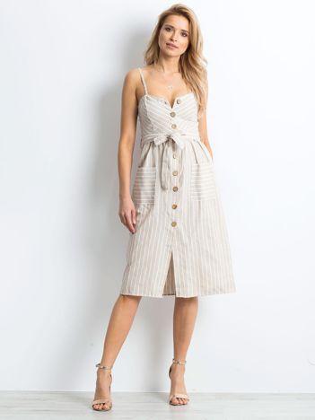 Beżowa sukienka Almost