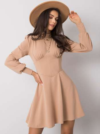 Beżowa sukienka Editta RUE PARIS