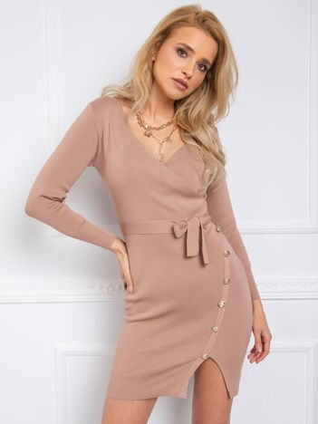 Beżowa sukienka Ezra