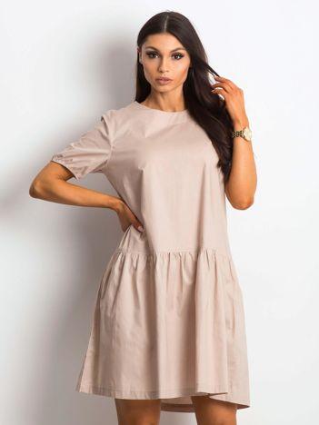 Beżowa sukienka Style-conscious