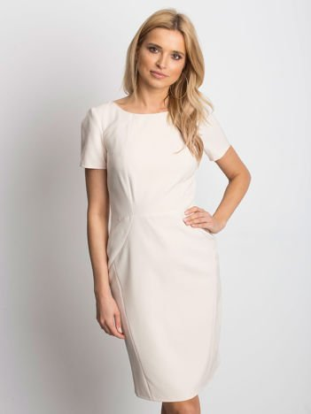 c839789689 Beżowa sukienka Symmetry