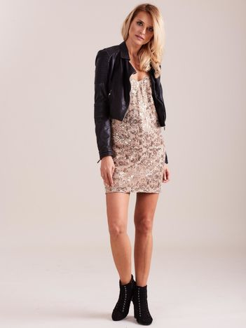 Beżowa sukienka mini
