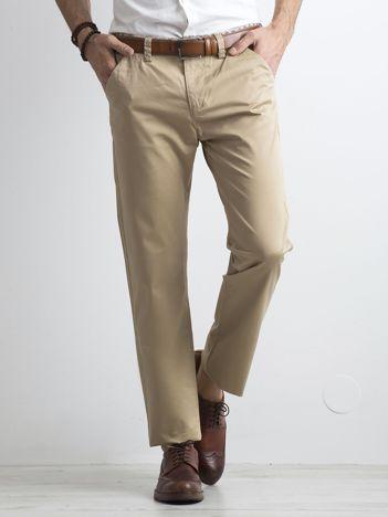 Beżowe klasyczne męskie spodnie
